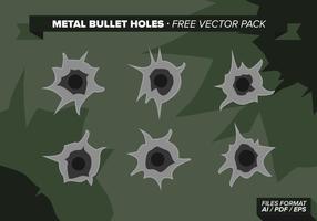 Pack de vecteur gratuit de trous de balles en métal