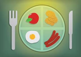Illustration des repas scolaires vecteur