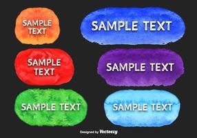 Vecteurs de bannière d'aquarelle colorées