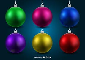 Sphères de Noël vecteur
