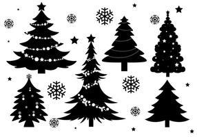 Vecteurs de silhouette d'arbre de Noël