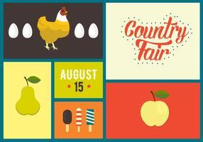 Illustration vectorielle de Country Fair Symbols vecteur