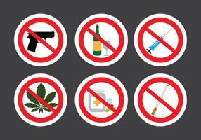 Ensemble de signes d'interdiction dans le vecteur