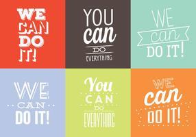 Illustrations typographiques vecteur