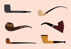 Ensemble vectoriel de pipes à tabac