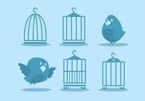 Ensemble de vecteur de cage d'oiseaux