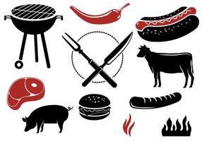 Vecteurs de barbecue gratuits vecteur