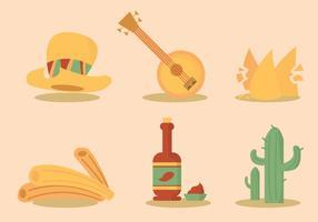 Ensemble de vecteur alimentaire mexicain