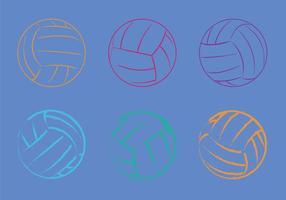 Illustration vectorielle gratuite de volleyball vecteur