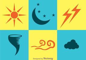 Icônes météorologiques vecteur