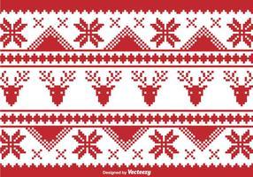Frontière de pixels traditionnelle de Noël vecteur