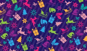Modèle d'icônes de Noël vecteur
