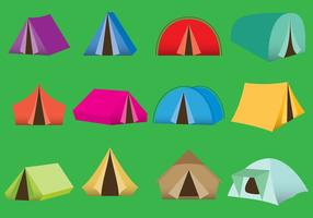 Tentes de camping vecteur