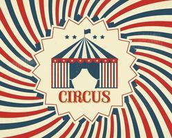 Poster vintage de cirque vecteur