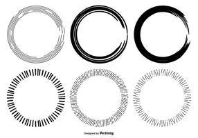 Formes dessinées à la main en forme de cercle vecteur