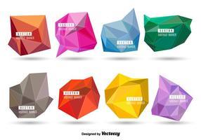 Bannières polygonales vecteur