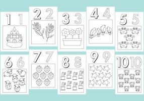 Numéros Coloring Pages vecteur
