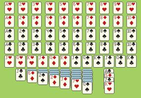 Cartes solitare style pixel