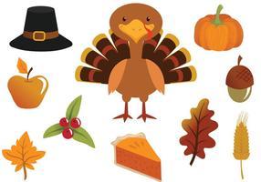 Vecteurs de Thanksgiving gratuits vecteur