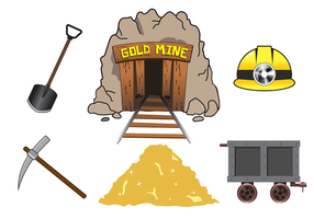 Vecteur de mine d'or gratuit