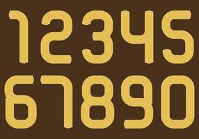Nombres churros vecteur
