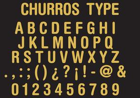 Type Churros vecteur