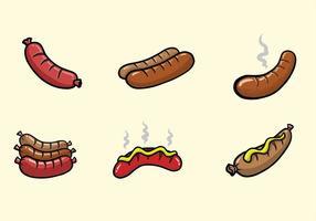6 bratwurst vecteur
