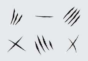 Griffes libres déchirant l'illustration vectorielle vecteur