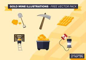 Illustrations de Mine d'Or Pack Vector Gratuit