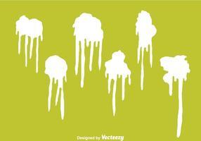 Vecteurs de goutte de peinture blanche vecteur