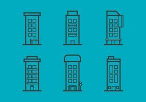 Icônes vectorielles gratuites Townhomes # 6 vecteur