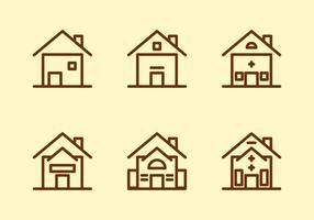 Icônes gratuites de vecteurs Townhomes # 5