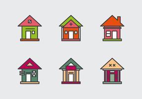 Icônes gratuites de vecteurs Townhomes # 1 vecteur