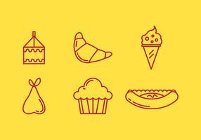 Icônes vectorielles libres du déjeuner scolaire # 2 vecteur