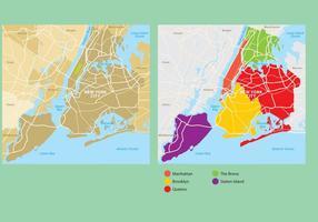 Carte de la ville de New York vecteur