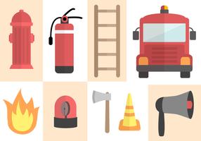 Vecteur libre de pompiers