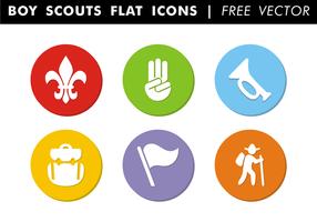 Boy Scouts, icônes plates, vecteur gratuit