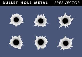 Vecteur libre de métal de trou de balle