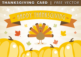 Carte de thanksgiving heureuse vecteur gratuit