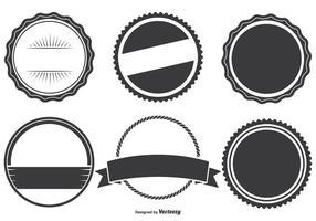 Assortiment de formes Badge assorties vecteur