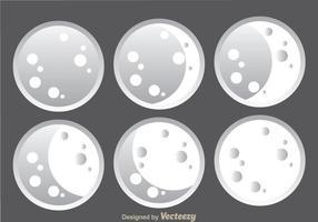 Icônes de la grande lune vecteur