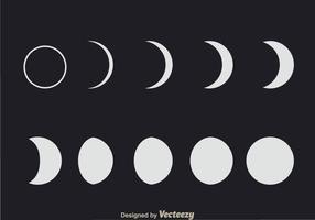 Phases lunaires vecteur