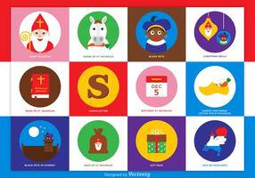 Icônes vectorielles gratuites de Saint Nicholas