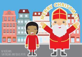 Noël à Pays-Bas vecteur