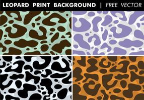 Vecteur libre de fond d'impression léopard