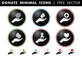 Faire un don d'icônes minimales Vector gratuit