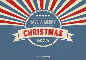 Illustration rétro Style de salutation de Noël