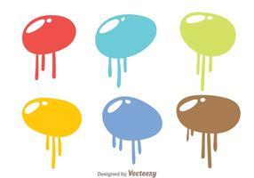 Vecteurs de goutte de peinture à bulles vecteur