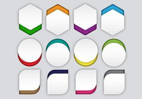 Vecteur de bulles de papier gratuit