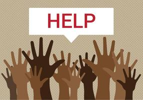 Les réfugiés gratuits ont besoin d'aide Vector